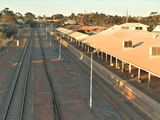 Picture relating to Kalgoorlie - titled 'Kalgoorlie railway station looking east'